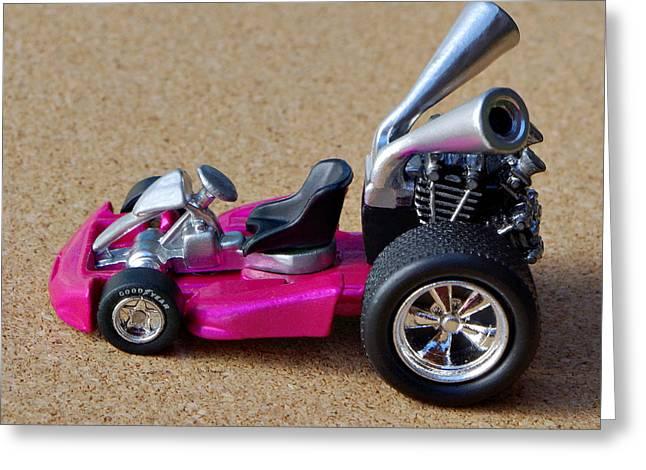 Hotwheels Go Kart Greeting Card
