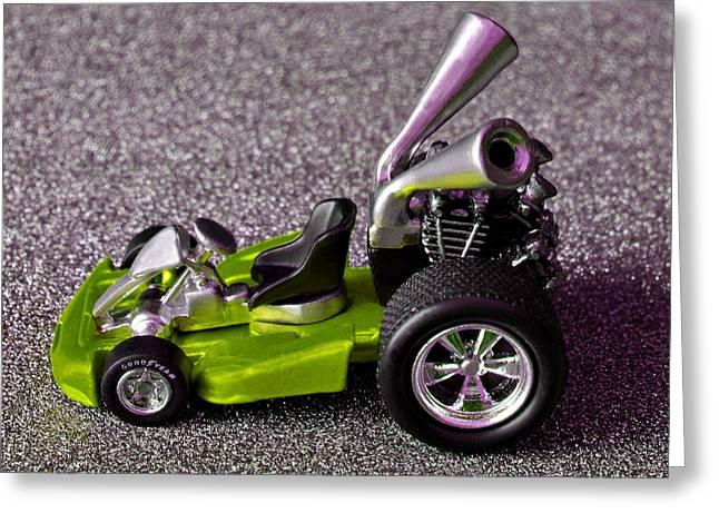 Hotwheels Go Kart Custom Greeting Card