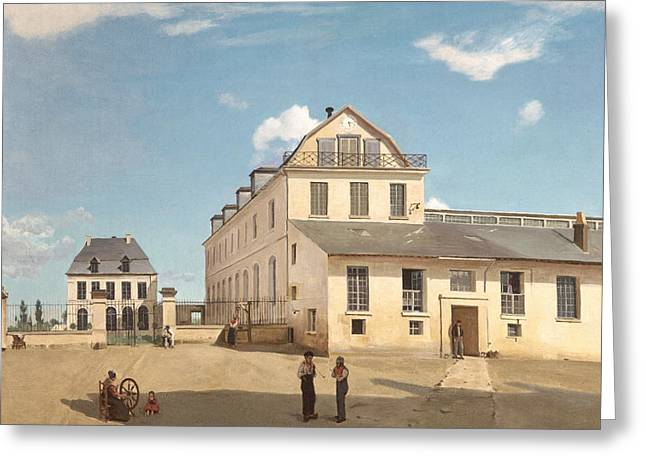 House And Factory Of Monsieur Henry Greeting Card by Jean-Baptiste-Camille Corot
