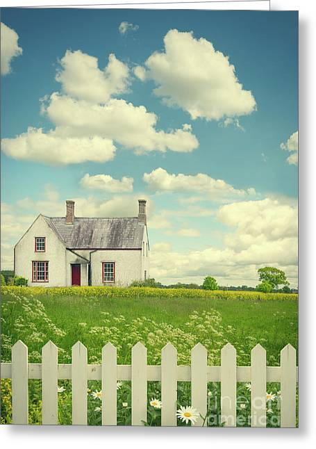 House In The Countryside Greeting Card by Amanda Elwell