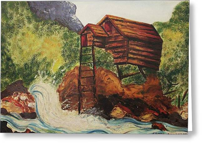 House On Stilts Greeting Card by Suzanne  Marie Leclair