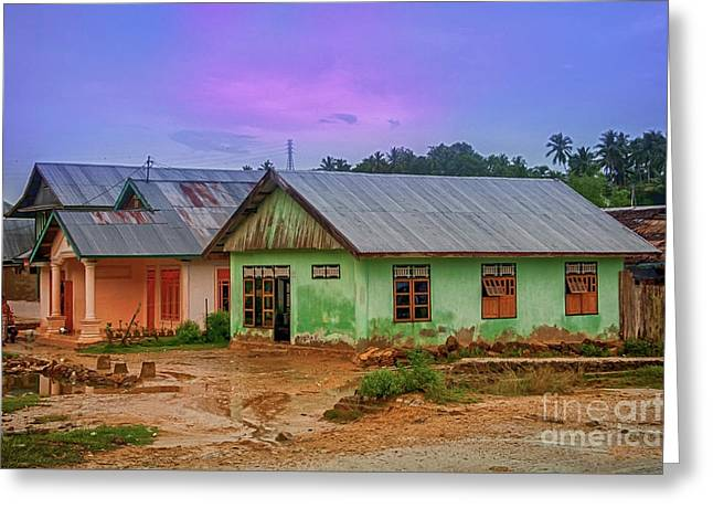Greeting Card featuring the photograph Houses by Charuhas Images