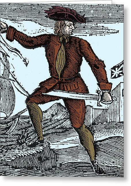 Howell Davis, Welsh Pirate Greeting Card by Science Source
