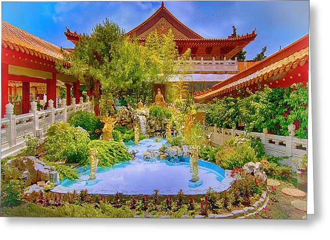 Hsi Lai Temple Greeting Card