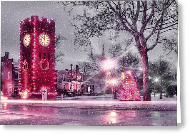 Akron Greeting Cards - Hudson Holidays Greeting Card by Kenneth Krolikowski