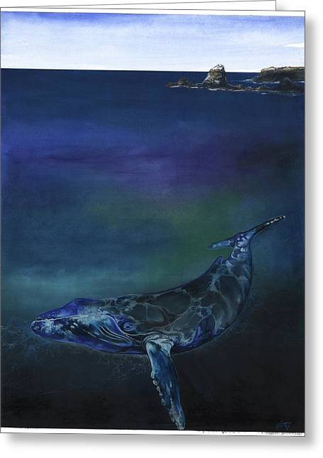 Humpback Whale Greeting Card by Anthony Burks Sr