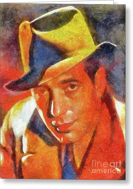 Humphrey Bogart By Sarah Kirk Greeting Card