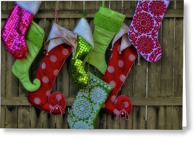 Stockings Hung With Care Greeting Card by JAMART Photography