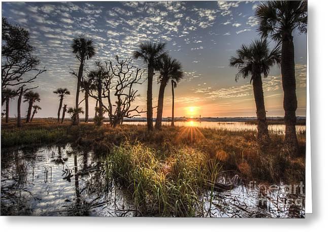 Hunting Island State Park Beach Sunrise Greeting Card by Dustin K Ryan