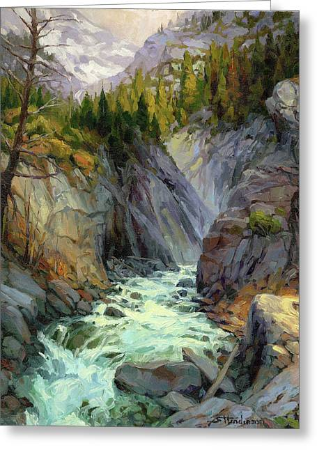 Hurricane River Greeting Card