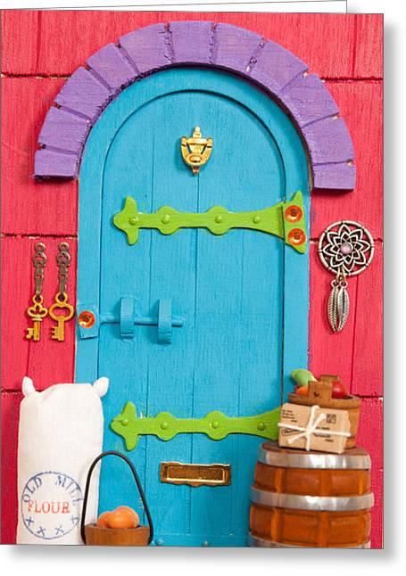 Hustle Bustle Fairy Door Greeting Card