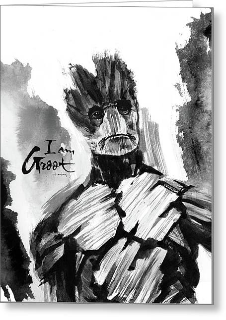 I Am Groot Greeting Card by Haze Long