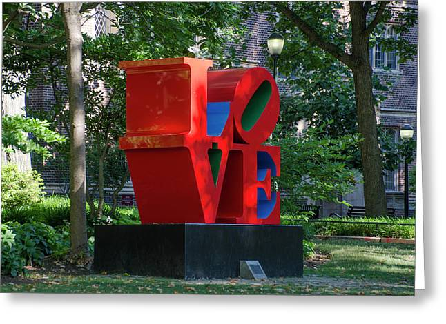I Love Penn Greeting Card by Bill Cannon