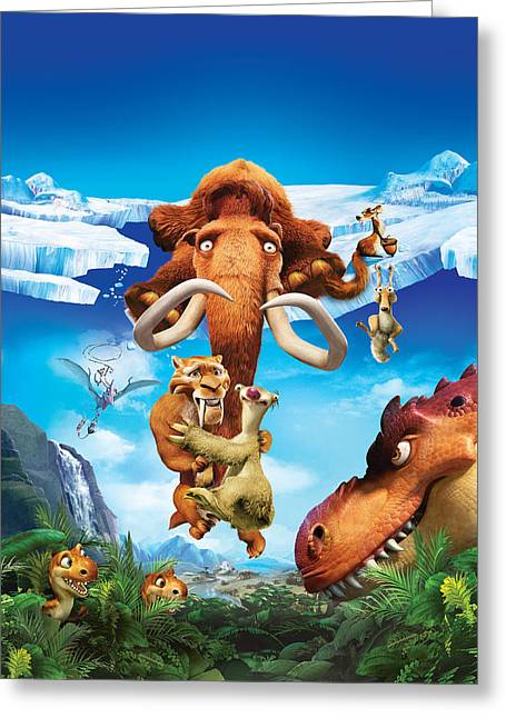 Ice Age Dawn Of The Dinosaurs 2009  Greeting Card