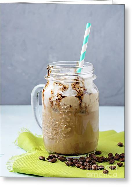 Ice Coffee With Cream Greeting Card