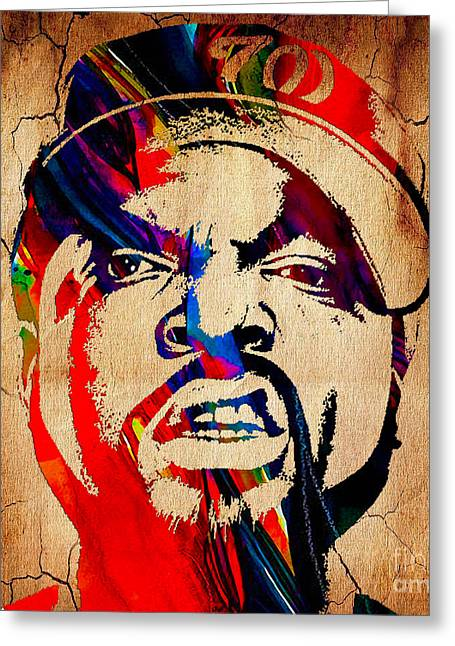 Ice Cube Straight Outta Compton Greeting Card by Marvin Blaine