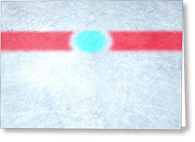 Ice Hockey Centre Greeting Card
