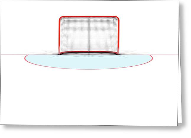 Ice Hockey Goals Greeting Card