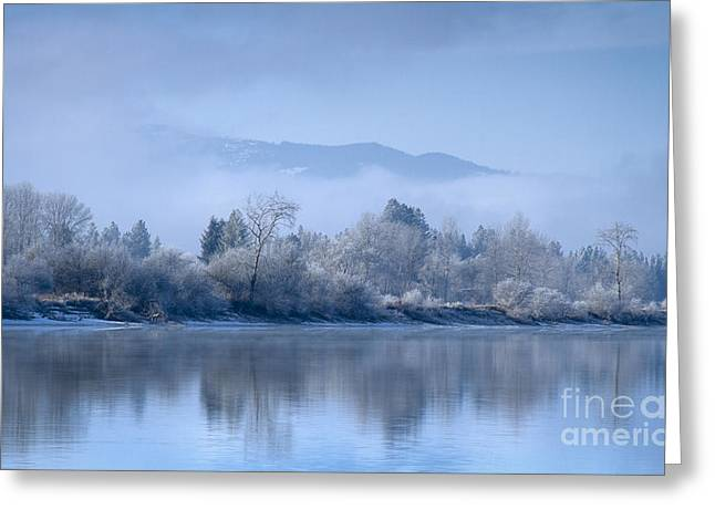 Icy Blue Greeting Card by Idaho Scenic Images Linda Lantzy