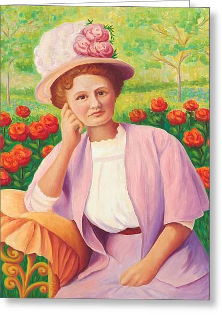 Ida In The Garden Greeting Card