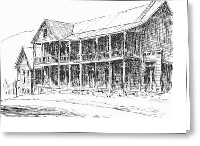 Idaho Hotel Silver City Ghost Town Idaho Greeting Card by Kevin Heaney