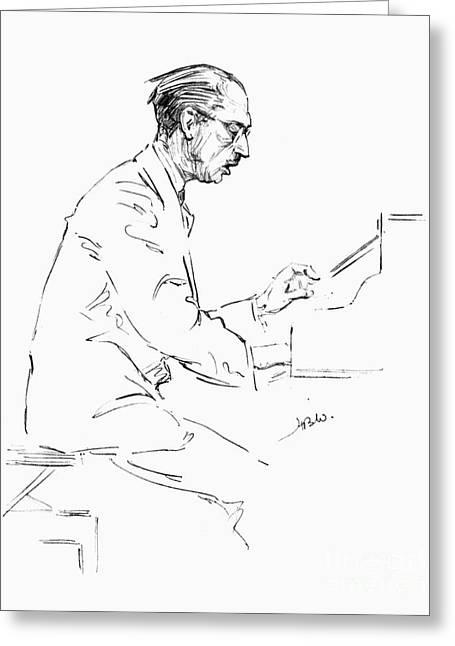 Igor Stravinsky (1882-1971) Greeting Card by Granger