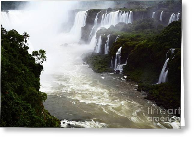Iguazu Falls South America 13 Greeting Card by Bob Christopher
