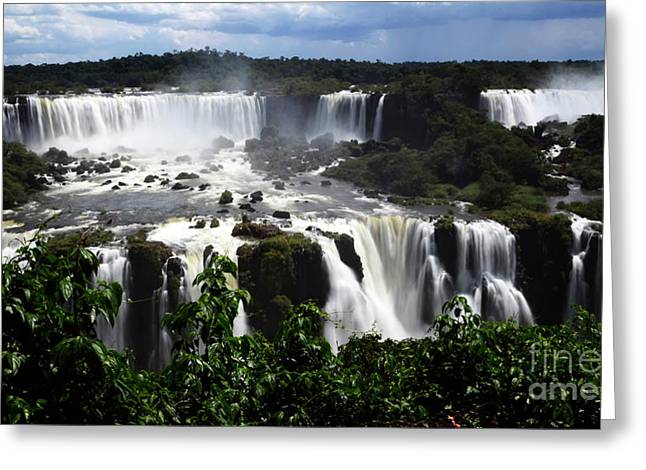 Iguazu Falls South America 17 Greeting Card by Bob Christopher
