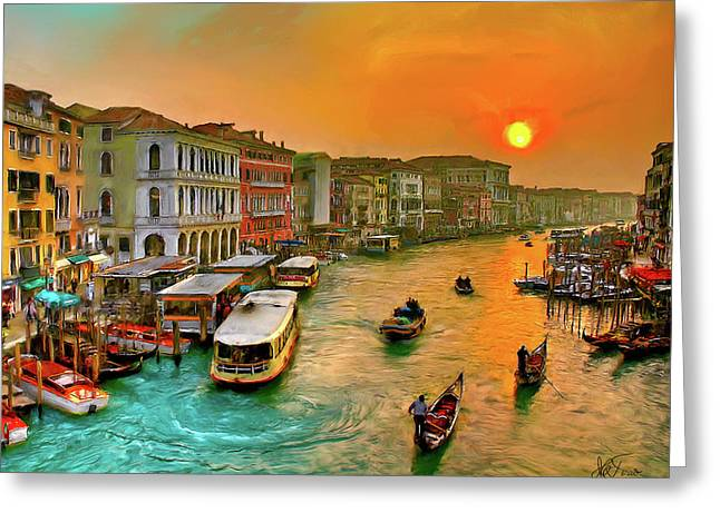 Imbarcando. Venezia Greeting Card