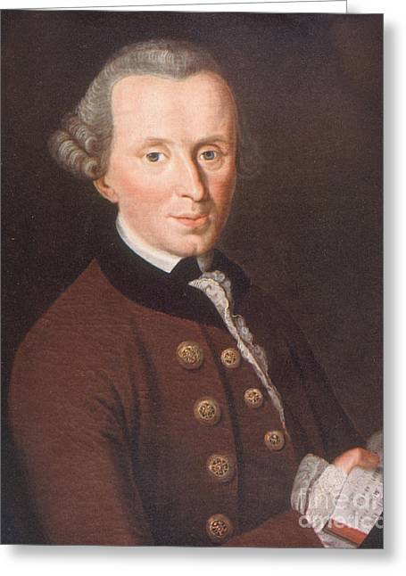 Immanuel Kant, German Philosopher Greeting Card by Science Source