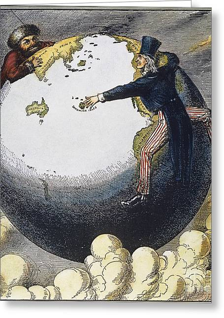 Imperialism Cartoon, 1876 Greeting Card by Granger