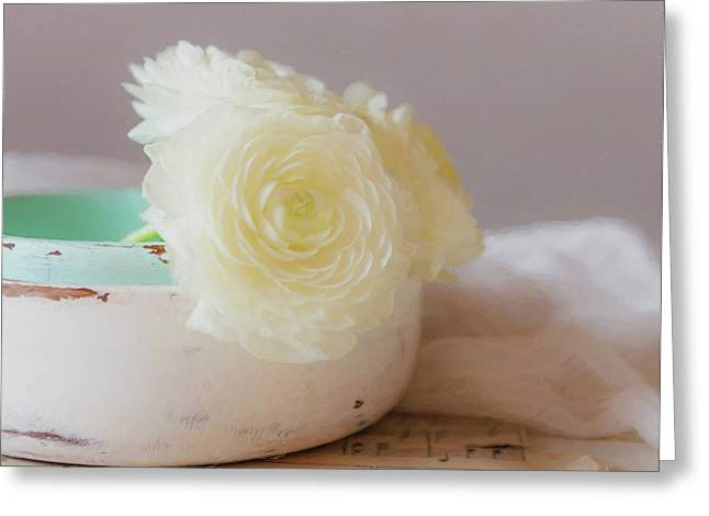 Greeting Card featuring the photograph In A White Bowl by Kim Hojnacki