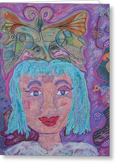 Colorfull Hair Greeting Cards - In Her Eyes Greeting Card by Marlene Robbins