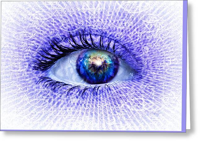 In The Eye Of The Beholder Greeting Card by Robby Donaghey