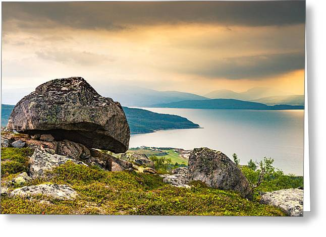Greeting Card featuring the photograph In The North by Maciej Markiewicz