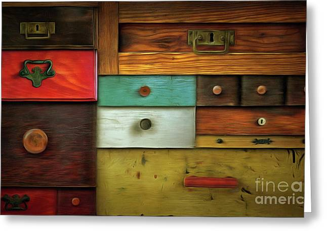 In Utter Secrecy - Various Drawers Greeting Card