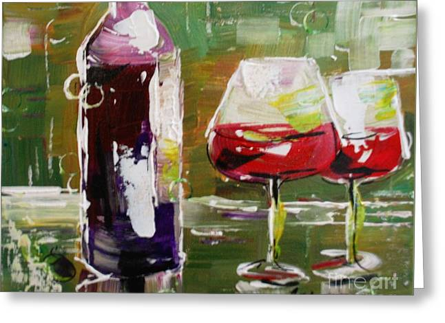 In Vino Veritas. Wine Collection Greeting Card