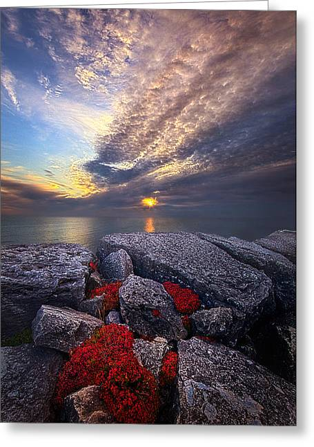 Inbetween Greeting Card by Phil Koch