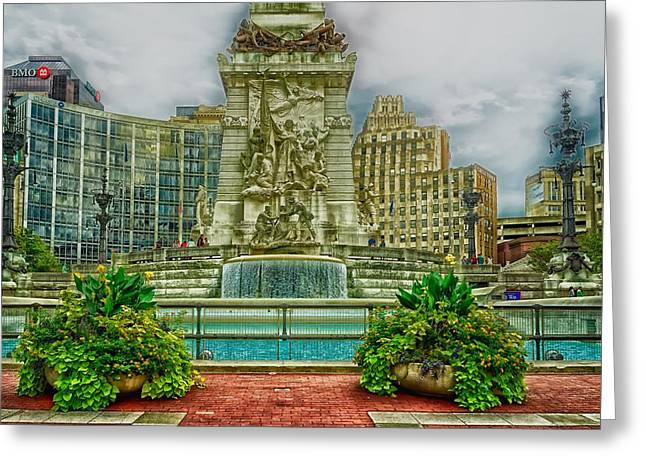 Indianapolis Soldiers And Sailors Monument Greeting Card by L O C