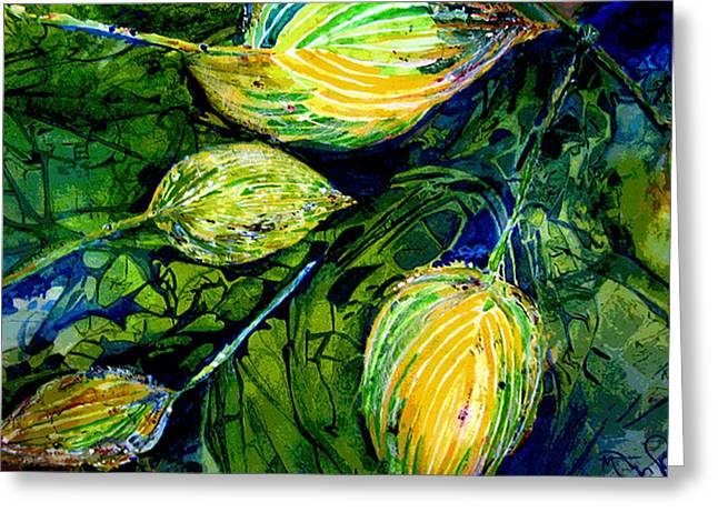 Indriel Blue Hosta Greeting Card by Mary Sonya  Conti