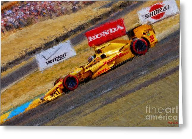 Indy Car's Ryan Hunter-reay Greeting Card by Blake Richards