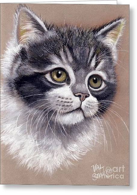 Innocence Greeting Card by Val Stokes