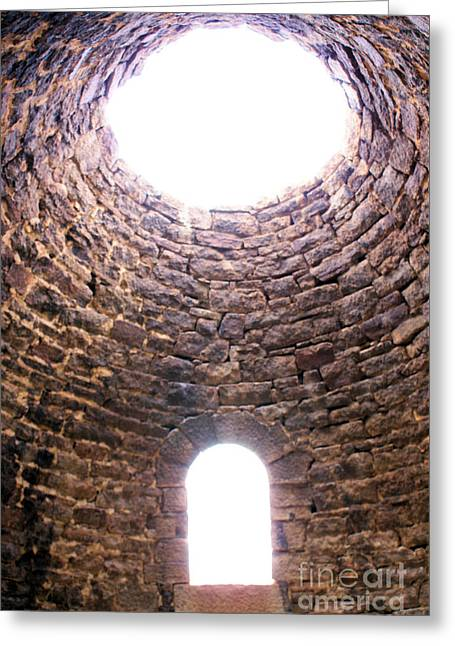 Inside The Ward Charcoal Ovens Greeting Card