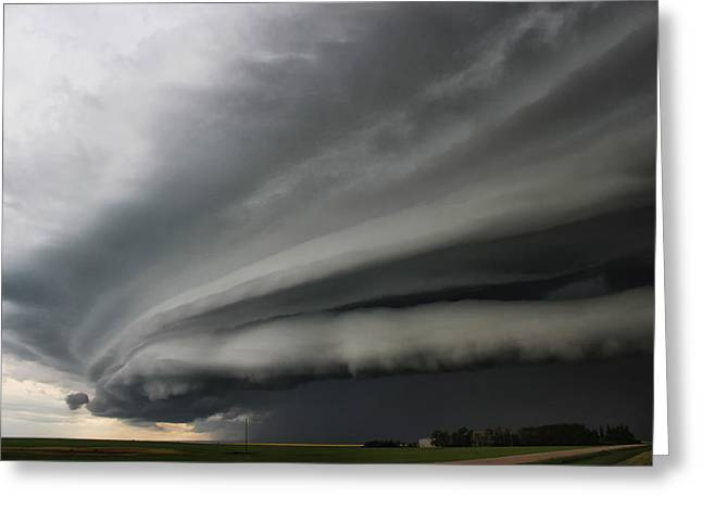Intense Shelf Cloud Greeting Card