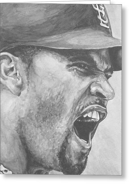 Intensity Pujols Greeting Card by Tamir Barkan