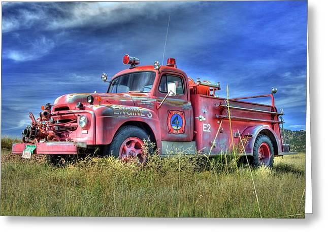 International Fire Truck 2 Greeting Card