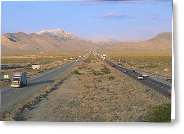 Interstate 15, Near Las Vegas, After Greeting Card by Panoramic Images
