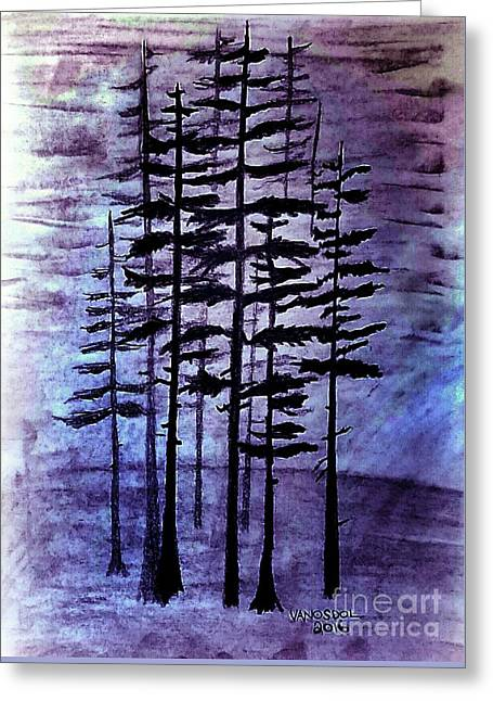 Into The Forest Greeting Card by Scott D Van Osdol