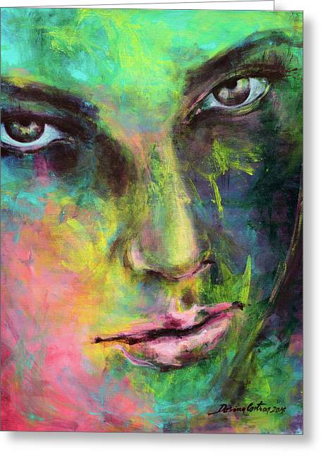 Introspection 2 Greeting Card by Dorina Costras