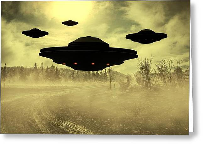 Invasion Earth By Raphael Terra Greeting Card